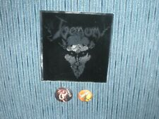 Venom Black Metal Pins and Sticker 198??