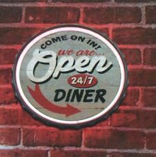 Come On In We Are OPEN 24/7 Diner LED Rope Neon Sign - New Bar  Man cave Garage