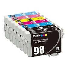 7P for 98 99 Black & Color Set fit Epson Artisan 800 810 835 837 W/ Ink Level