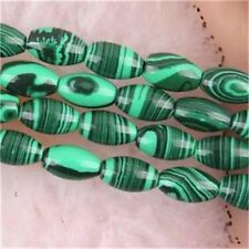 NEW 8X12MM Gemstone Green Malachite Drum Loose beads 15''