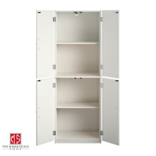 Kitchen Storage Pantry Cabinet Tall Wood Organizer Shelves White Armoire Bedroom