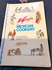 DeGRAZIA AND MEXICAN COOKERY COOKBOOK RECIPES ART ARIZONA HIGHWAYS  VINTAGE