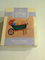 VINTAGE 1992 Hallmark BARROW OF GIGGLES Easter Spring Ornament MIB