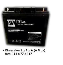 Batteria ermetica ricaricabile al piombo 12 Volt 18Ah 20 Hr carrelli golf cars