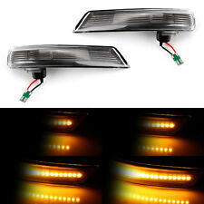 2x LED Smoked Wing Mirror Dynamic Turn Signal Light Indicator For Ford Focus