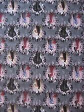 Disney Villains Portraits Maleficent Cruellla Evil Cotton Fabric Quilt BTY Yard