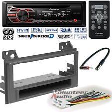 Pioneer CD Player PKG Chevrolet S10 GMc Sonoma Radio Install Dash Kit + Harness