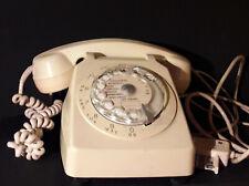 ANCIEN TELEPHONE S 63 CREME A CADRAN FONCTIONNE