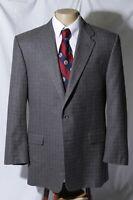 Hickey Freeman Men's Gray Taupe Silk Wool Cotton Sport Coat Jacket Blazer 44R