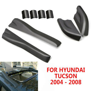 Matte Black Roof Rack Rail End Cover Shell Replace For Hyundai Tucson 2004-2008