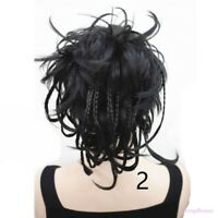 HairClip Ponytail Clip-on Short Curly Extensions hair Hairpiece Braided Wig