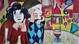 Pablo Picasso Inspired Original Painting - The Two Saltimbanques (1901)
