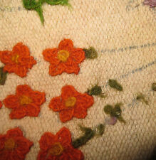 Vtg60s/Floral/ARTS & CRAFT/rectangulaire Wallhanging/long rug/76ins/40INS/Tapis