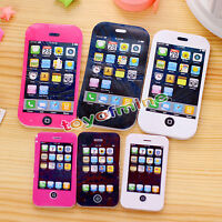 2Pcs Big Size iPhone Shaped Rubbers Pencil Eraser Students Novelty Stationery