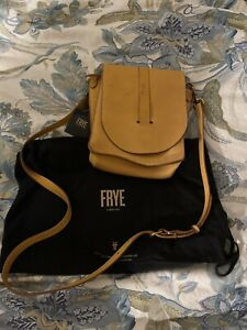 FRYE Ilana Yellow Leather Crossbody Bag, $358 STORE DISPLAY, Includes Tag