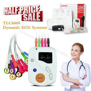 48 Hours Dynamic ECG Systems EKG Holter Analyzer / Recorder 12 Channel Software