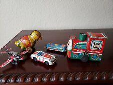 Vintage Chein Japan Tin Jet Car Porsche 209 Navy Jet Tin Toy Lot Japan