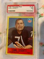 1967 Philadelphia Football Card #125 Earl Leggett New Orleans Saints PSA 7 NM