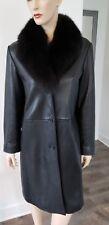 Andrew Marc Fox fur leather coat sz M