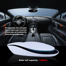 Car Home Solar Air Purifier Smell Dust Cleaner Intelligent Control Car Charger