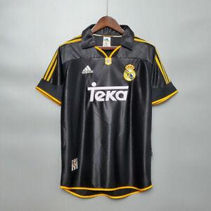 Real Madrid 1998 99 Away Retro Soccer Jersey Raul Seedorf Roberto Calos Shirt 98