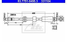 ATE Tubo flexible de frenos 83.7751-0495.3