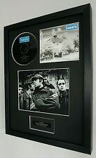 Oasis-Live Forever Framed Original CD-Limited Edition-Metal Plaque-Certificate