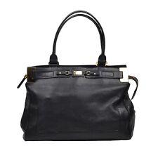 ESCADA Handtasche Purse Leder Leather Schwarz Black Made in Italy CLASSIC Bag