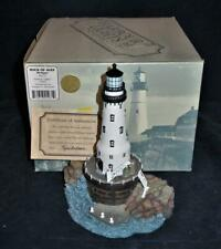 Harbour Lights Lighthouses Great Lakes Series Rock Of Ages Mi 2002 Mib #271