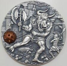 2017 2 Oz Silver $5 MINOTAUR Ancient Myths Coin,Niue..
