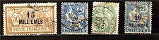 Colonies FR: Alexandrie 4 timbres 1900/1921 avec surcharges    M241-D98