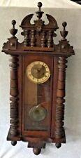 Gustav Becker Wall Clock Antique Silesia P42 Intricate Wood Case Key Estate Find