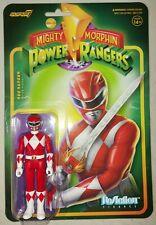 "Red Ranger 3.75"" Mighty Morphin Power Rangers Super7 Reaction Figure New"