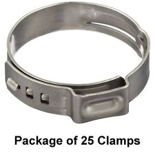 """Size 23/32"""" 18.5 mm, Oetiker Stepless Ear Clamps, Single Ear Hose Clamps 25 Pack"""