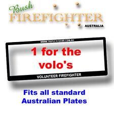 Number Plate Frame For Volunteer Firefighters