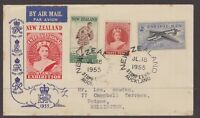 New Zealand 1955 International Stamp Exhibition cover with special cancel