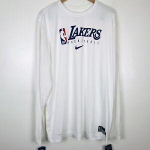 Nike NBA Los Angeles Lakers Tee Long Sleeve Shirt Men's XXL-Tall CD2683-100