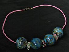 Goa Modul Perlen Kette Muranoglas HANDARBEIT Halsband Collier Charm Bead Element