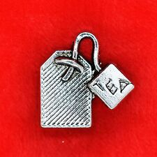 8 x Tibetan Silver Tea Bag Charm Pendant Finding Bead Jewellery Making