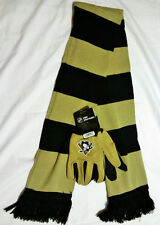 PITTSBURGH PENGUINS GLOVES AND SCARF SET (FREE SHIP)