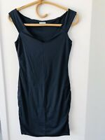 KOOKAI Size 1 Navy Blue V Neck Bodycon Fitted Casual/Formal Sleeveless Dress