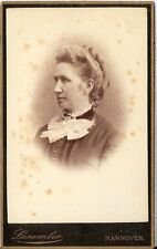CDV photo Damenportrait - Hannover 1880er