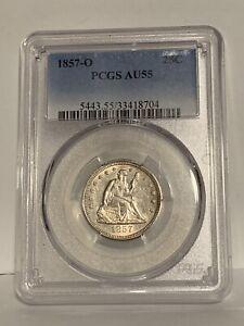 1857-O Seated Liberty Quarter, PCGS AU 55