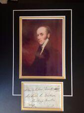 2nd Earl Charles Gris - ancienne premier ministre - EXCELLENT signé affichage