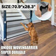 Magic Pets Dog Cat Baby Safety Gate Mesh Fence Portable Guard Net Stairs Doors