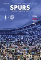 Tottenham Hotspur v Leicester City July 2020 Premier League Programme
