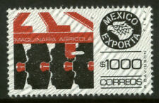 MEXICO Exporta 1588A $1000P Agricultural Machinery w/Burelage Paper 10 MNH