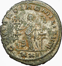 Severina wife of  Aurelian 275AD Rare Silvered Ancient Roman Coin Concord i35006