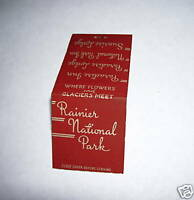 RAINIER NATIONAL PARK MATCHBOOK COVER