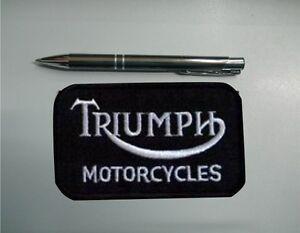 PATCH TOPPA TRIUMPH MOTORCYCLES EMBROIDERY RICAMATO TERMOADESIVO cm 9 x 5